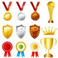 Trophy and awards easy to edit vector illustration of Stock Photography