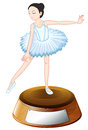 A trophy for ballet dancing illustration of on white background Stock Images
