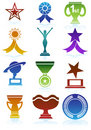 Trophy Buttons Royalty Free Stock Photography