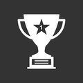 Trophy cup flat vector icon.