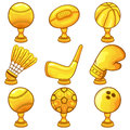 Trophy icon sport illustration of a set Royalty Free Stock Image