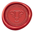 Trophy Sign Wax Seal Royalty Free Stock Photos
