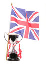 Trophy and union jack Royalty Free Stock Photography