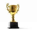 Trophy on white Royalty Free Stock Photo