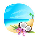Tropic background illustration of a Royalty Free Stock Photo