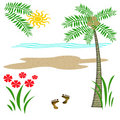 Tropic beach vacation Stock Images