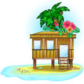 Tropic bungalow Royalty Free Stock Photography