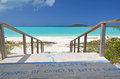 Tropic of cancer mark at little exuma bahamas Stock Image