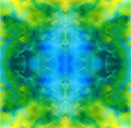 Tropic sea blue green abstract geometric seamless pattern vector Stock Photography