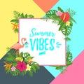 Tropic season postcard or poster