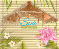 Tropic style spa banner Royalty Free Stock Photo