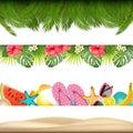 Tropic summer borders. Vector