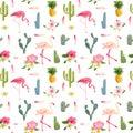 Tropical Background. Flamingo ...