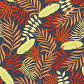 Tropical background with palm leaves.