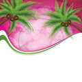 Tropical background pink summer vector Stock Photography