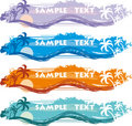 Tropical Banner Stock Photography