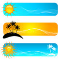 Tropical banners Royalty Free Stock Photo