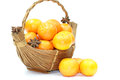 Tropical basket fruits Royalty Free Stock Photo