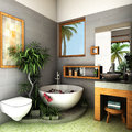 Tropical bathroom