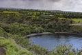 Tropical Bay and Golf Course at Kapalua West Maui Hawaii USA Royalty Free Stock Photo
