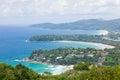 Tropical beach aerial Stock Image