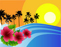 Tropical beach background Stock Image