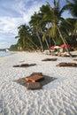 Tropical beach bar boracay island philippines Royalty Free Stock Photo