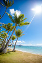 Tropical beach and bay view of ocean Stock Photography