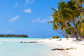 Tropical beach at bora bora Royalty Free Stock Photos