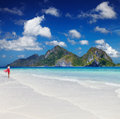 Tropical beach el nido philippines Royalty Free Stock Images