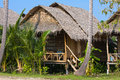 Tropical beach house on island koh phangan thailand Royalty Free Stock Image