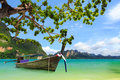 Tropical beach krabi thailand landscape Royalty Free Stock Images