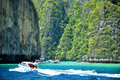 Tropical beach maya bay andaman sea thailand Royalty Free Stock Photo