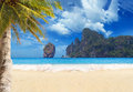 Tropical beach of phi phi island ko don Stock Photography