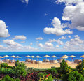 Tropical beach and red sea in egypt Stock Images
