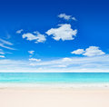 Tropical beach sand sky Royalty Free Stock Photo