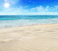 Tropical beach sandy and sea Royalty Free Stock Image