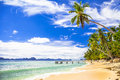 Tropical beach scenery, Palawan (Philippines) Royalty Free Stock Photo