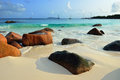 Tropical beach on Seychelles island Stock Photo