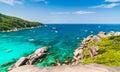 Tropical beach similan islands andaman sea thailand Royalty Free Stock Image