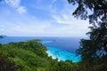 Tropical beach similan islands andaman sea thailand top view at koh see southern of Royalty Free Stock Images