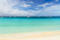 Tropical beach sky and sea Royalty Free Stock Photo