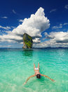Tropical beach snorkeling andaman sea thailand Stock Photos