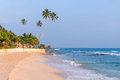 Tropical beach in sri lanka at sunset southern part of Stock Photography