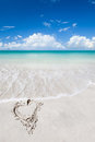 Tropical  beach at summer sunny day. Royalty Free Stock Photo