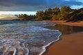 Tropical beach sunburst, Maui Royalty Free Stock Photo