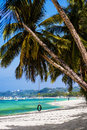 Tropical beach in sunny day Stock Image
