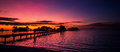 Tropical beach sunset background Royalty Free Stock Photo