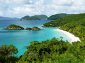 Tropical beach trunk bay US-VI Royalty Free Stock Images