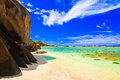 Tropical beach vacation nature background Stock Photo
